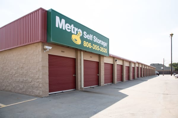 Line of outdoor units at Metro Self Storage in Amarillo