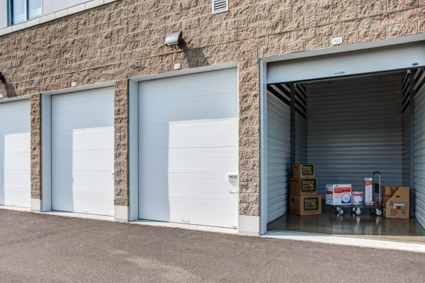 Open outdoor unit at Metro Self Storage in Mundelein, Illinois