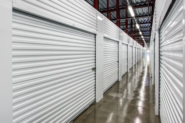 Indoor units hallway at Metro Self Storage in Mundelein, Illinois