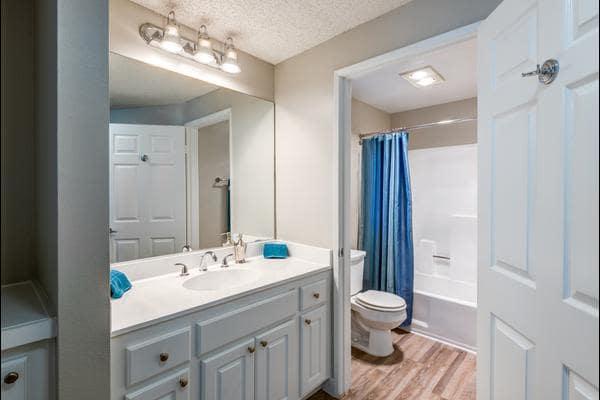 Spacious bathroom at Madison Hancock Park in Los Angeles, CA