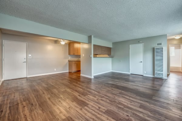 An example dining room in one of the apartments for rent at Alvista Long Beach