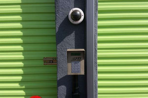Security keypad on outdoor units at One Stop Storage