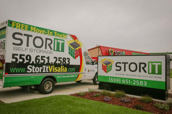 Moving truck at Stor It Self Storage in Visalia