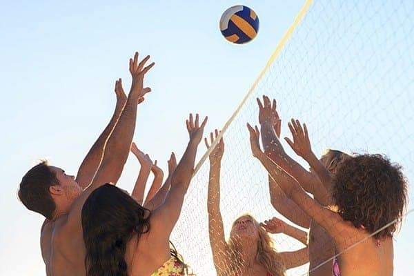 Volleyball court at Spice Tree Apartments