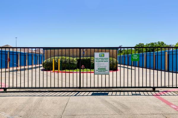 Security Gate at Metro Self Storage in Bedford, TX