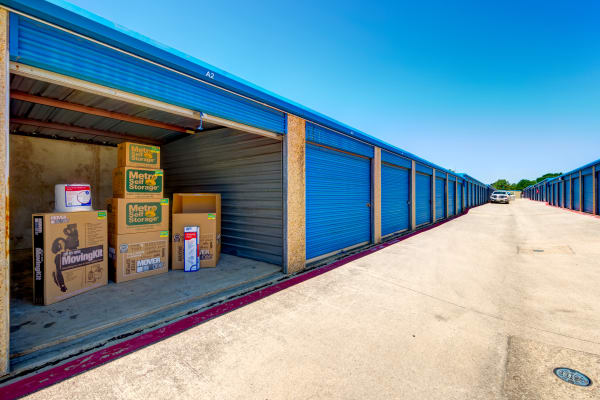 Exterior Units at Metro Self Storage in Bedford, TX