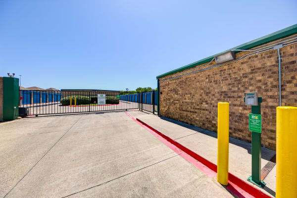 Gated Entrance at Metro Self Storage in Bedford, TX