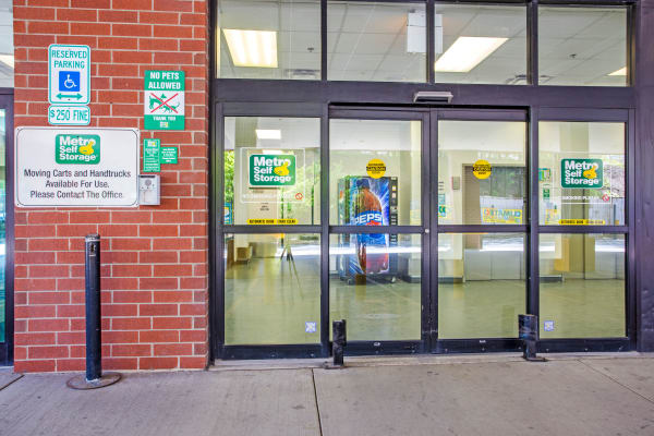 Front entrance at Metro Self Storage in Chicago, IL