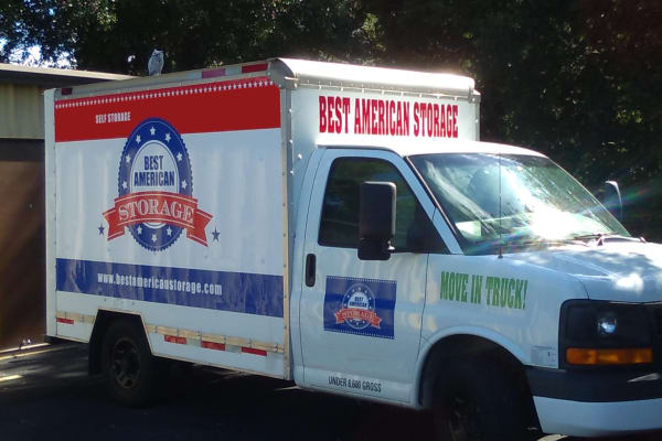 Moving trucks available at Best American Storage in Tavares