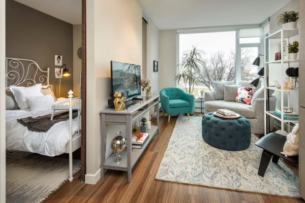 Beautiful apartment interior at Fifteen15 in Calgary, Alberta