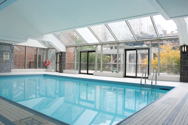 Indoor pool at 57 Charles at Bay in Toronto
