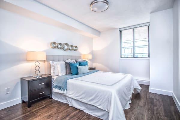 57 Charles at Bay master bedroom in Toronto