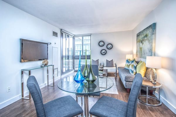 Beautiful open floor plans at 57 Charles at Bay in Toronto