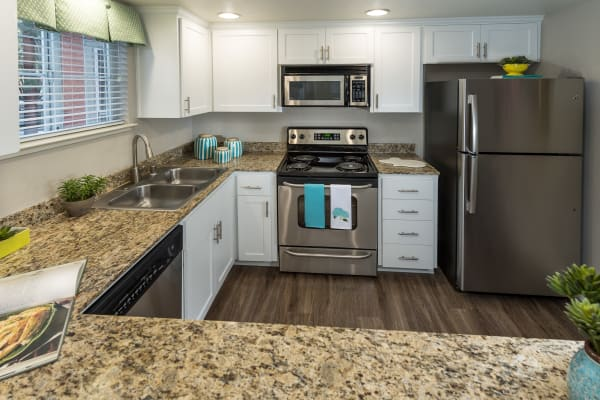 Apartment amenities include an upgraded kitchen