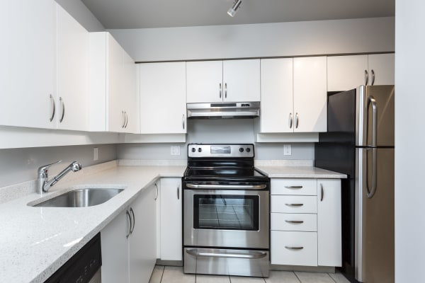 Stainless steel appliances at Larchway Gardens in Vancouver