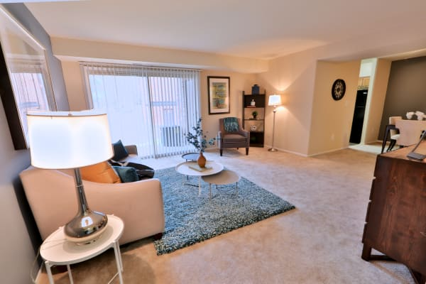 Enjoy apartments with a spacious living room at Taylor Park Apartment Homes