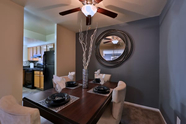 Our apartments in Nottingham, Maryland showcase a beautiful dining room