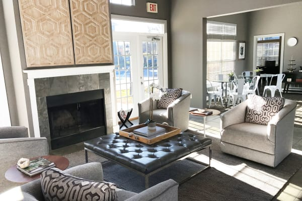 Floor-to-ceiling windows at luxury apartments in Knoxville, Tennessee