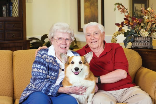 Variety of amenities at senior living community in Gahanna, OH