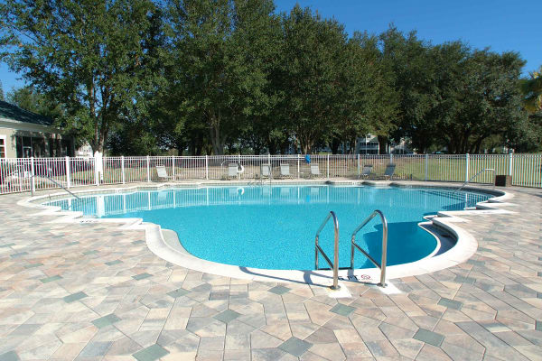 Swimming pool at apartments in Lakeland, Florida