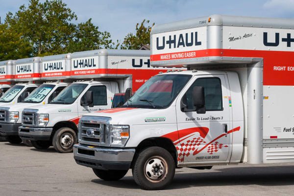 Moving truck rentals at Prime Storage in York, Maine