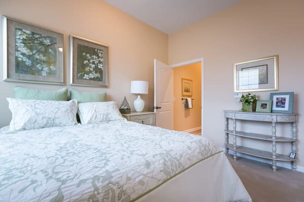 Comfortable bedroom at Anson Senior Living in Zionsville, IN