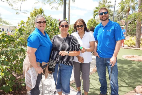 Discovery Senior Living mini golf awards at Discovery Senior Living in Bonita Springs, Florida