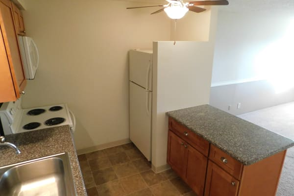 Spacious kitchen at Kings Court in Springfield, OR