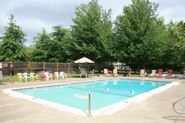 Beautiful Swimming Pool at Kings Court in Springfield, Oregon