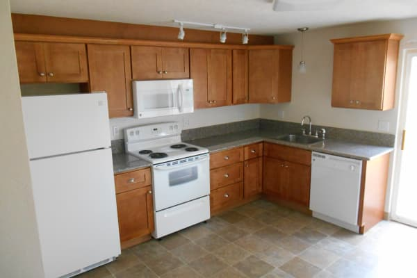 Full equipped kitchen at Village Park in Springfield, OR