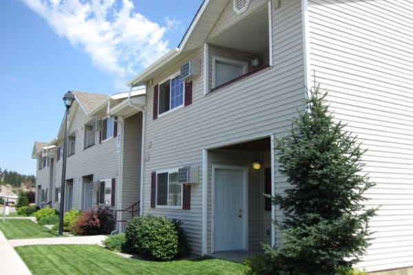 Exterior view of our apartments at River Rock Apartments in Spokane Valley, WA