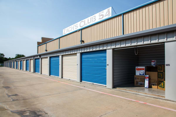 Open unit at Metro Self Storage in Amarillo