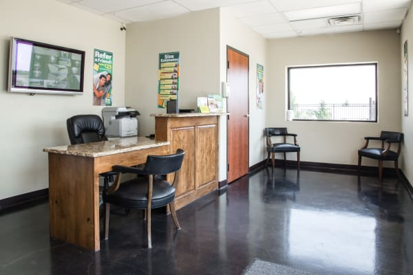 Office interior at Metro Self Storage in Amarillo, Texas