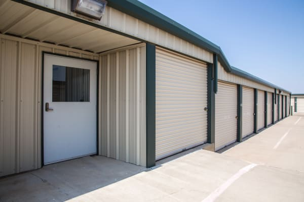 Office side entrance at Metro Self Storage in Amarillo, Texas