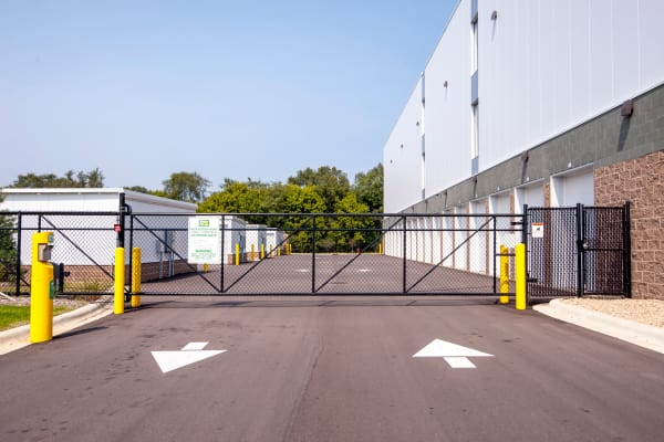 Gate with security panel at Metro Self Storage in Burnsville, Minnesota