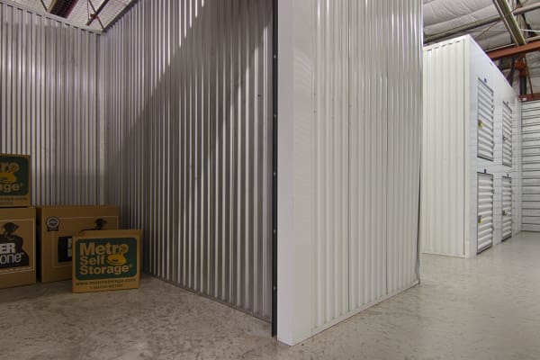 Open indoors unit at Metro Self Storage in Sarasota, Florida