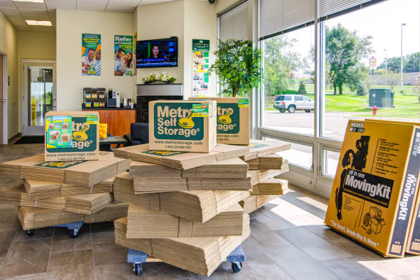 Packaging supplies at Metro Self Storage in Burnsville, Minnesota