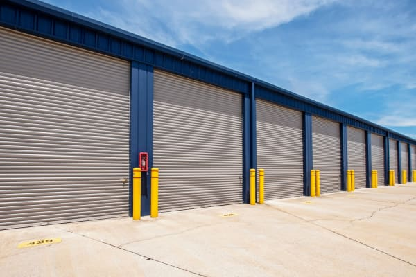 Outdoor units with extinguisher at Metro Self Storage in Corpus Christi, Texas