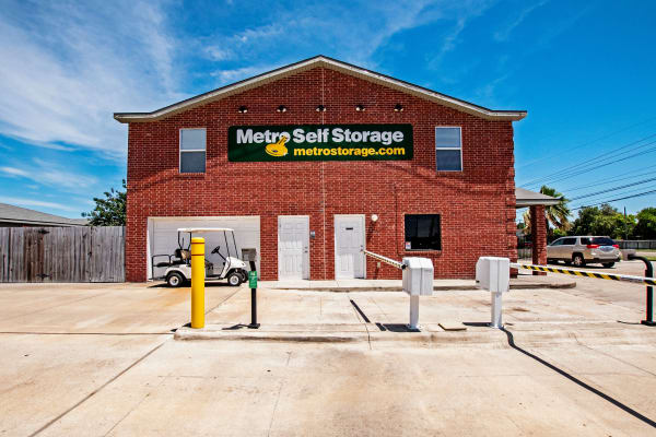 Entrance at Metro Self Storage in Corpus Christi, Texas
