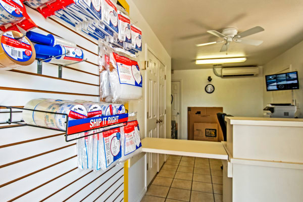 Packaging supplies at Metro Self Storage in Corpus Christi, Texas