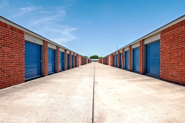 Outdoor units hallway at Metro Self Storage in Corpus Christi, Texas