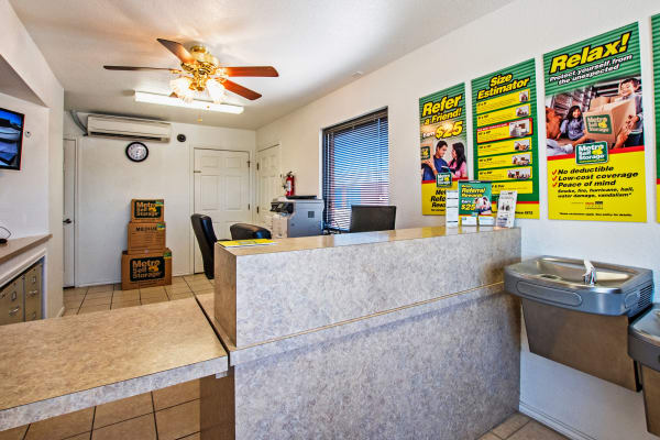 Leasing office reception at Metro Self Storage in Corpus Christi, Texas