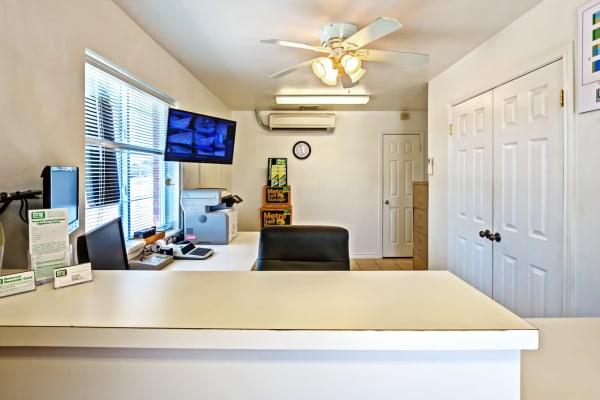 Leasing office reception at Metro Self Storage in Corpus Christi, Texas