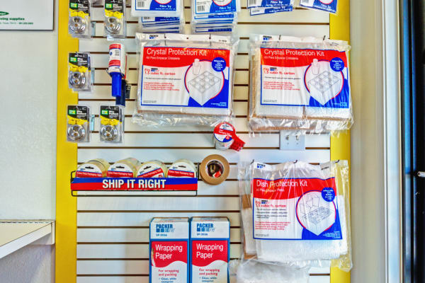 Packaging supplies at Metro Self Storage in Corpus Christi, Texas