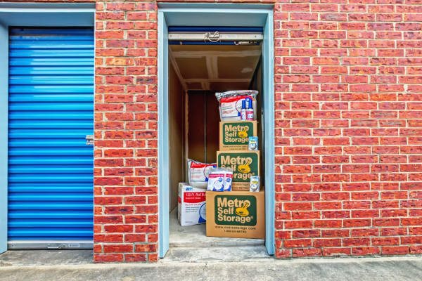 Outdoor unit with packages at Metro Self Storage in Corpus Christi, Texas
