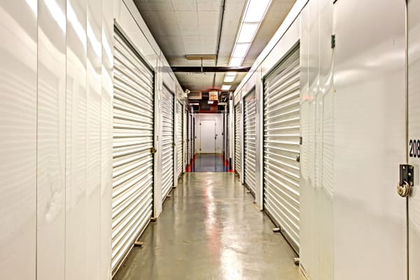 Indoor units hallway at Metro Self Storage in Des Plaines, Illinois