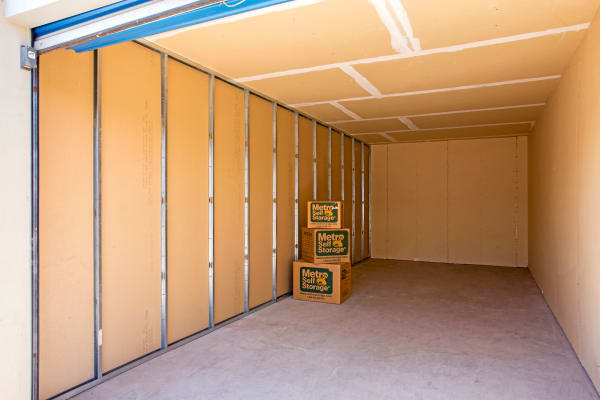 Storage unit interior view at Metro Self Storage in El Paso, Texas