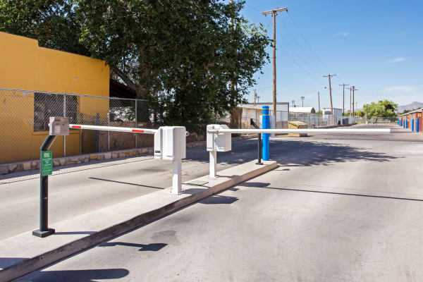 Gate with security panel at Metro Self Storage in El Paso, Texas