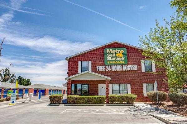 Office exterior view at Metro Self Storage in El Paso, Texas