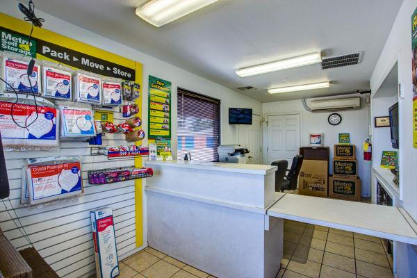 Office reception at Metro Self Storage in El Paso, Texas
